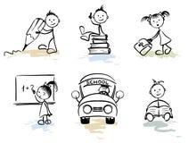 Hombres divertidos - escuela ilustración del vector