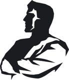 Hombres. Emblema abstracto stock de ilustración
