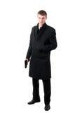 Hombres en desgaste formal con el arma foto de archivo libre de regalías