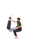 Hombres en equilibrio Fotografía de archivo libre de regalías