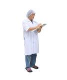 Hombres en la ropa del doctor aislada en el fondo blanco Imagen de archivo