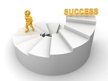 Hombres en las escaleras. éxito 3d Imagen de archivo libre de regalías