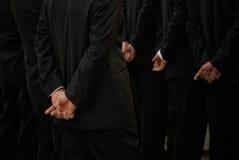 Hombres en negro Fotografía de archivo