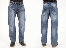 Hombres en pantalones de los vaqueros Fotografía de archivo