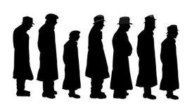 Hombres en silueta stock de ilustración
