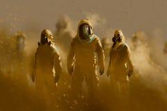 Hombres en traje protector Foto de archivo libre de regalías