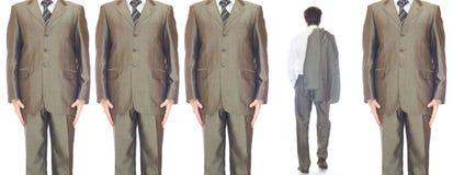 Hombres en trajes Imagenes de archivo