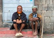 Hombres en Yemen Fotos de archivo