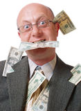 Hombres felices con el dinero Foto de archivo libre de regalías