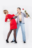 Hombre y mujer Imagen de archivo libre de regalías