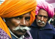 Hombres indios con el turbante Imagen de archivo
