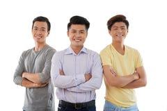 Hombres jovenes confiados Foto de archivo libre de regalías