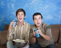 Hombres jovenes emocionados Fotografía de archivo libre de regalías