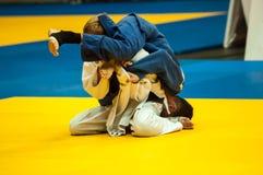 Hombres jovenes en judo Imagen de archivo