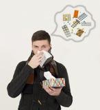 Hombres jovenes enfermos Imagen de archivo libre de regalías