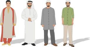 Hombres musulmanes ilustración del vector