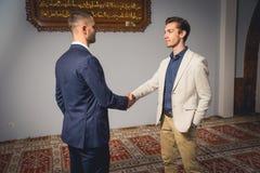 Hombres musulmanes Imágenes de archivo libres de regalías