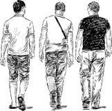 Hombres que caminan Fotografía de archivo libre de regalías