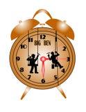 Hombres que lavan el reloj de ben grande libre illustration