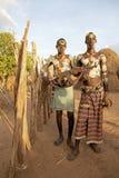 Hombres tribales africanos Fotografía de archivo