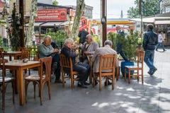 Hombres turcos en Zeyrek, Estambul Imágenes de archivo libres de regalías