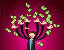 Hombres y dinero ilustración del vector
