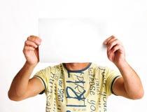 Hombres y hoja del papel Imagen de archivo