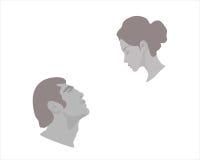 Hombres y mujer stock de ilustración
