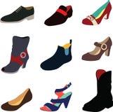 Hombres y zapatos de las mujeres Fotografía de archivo libre de regalías