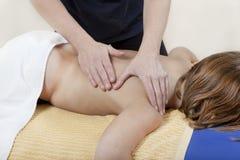 Hombro de la fisioterapia Foto de archivo libre de regalías