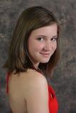 Hombro derecho de la muchacha adolescente Imagen de archivo