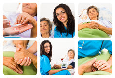 Homcare for elderly woman Royalty Free Stock Photo