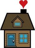 A HOME é o lugar onde o coração está Imagens de Stock