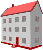 Home 06. Vector. 3d home in color 06 Stock Image