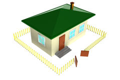 Home. Isolated small third-dimensional house Stock Photography