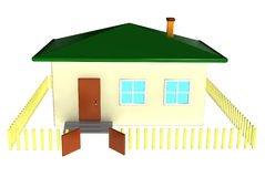 Home. 3d illustration of a small house Stock Images