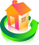 Home. With arrow isolated illustrated image Stock Image