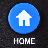 Home. The home key from a TV remote control Stock Photos
