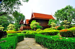 Home. Thai style surrounded by natural beauty Royalty Free Stock Photography