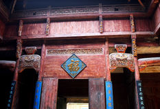 interior chinese traditional building Royalty Free Stock Images