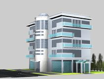 Home 3d. Architecture Home Building 3d rendering Royalty Free Stock Images