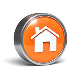Home - 3D button Royalty Free Stock Image