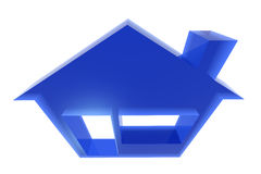 Home. Sweet home 3d icon on white Stock Image