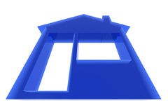 Home. Sweet home 3d icon isolated Royalty Free Stock Images