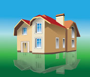 Home. Family house, the vector illustration Stock Photo