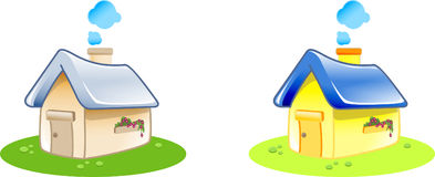 Home. In 2 color variation. you can use it for illustration or website icon Royalty Free Stock Photo