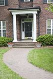 At Home. Front Entrance to a Brick Home Royalty Free Stock Photo