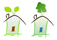 Home. Ecology home on isolated background Stock Image