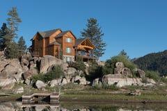 Home above Boulder Bay on Big Bear Lake Stock Photos