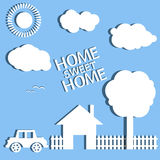 Home abstract  illustration eps 10 Stock Photography